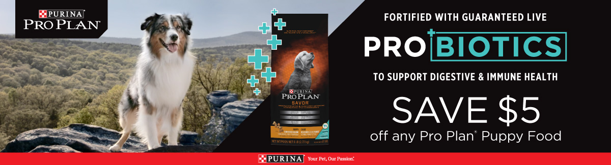 Purina Pro Plan - Save $5 off any pro plan puppy food